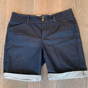 Navy Dockers Bermuda Shorts Women